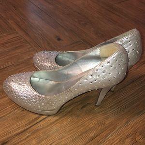 Silver Reinstone Heels